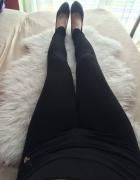 Push up nowe czarne legginsy wysoki stan wyższy