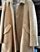 Beżowy płaszcz M Zara