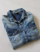 koszula jeansowa marmurka bershka m