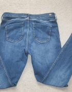 spodnie RIVER ISLAND rurki jeans L granatowe MOLLY