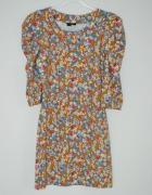 tunika sukienka z bufkami s