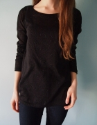 Czarna tunika Next S M oversize bluzka długi rękaw