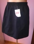nowa czarna krótka spódnica z kieszeniami 38