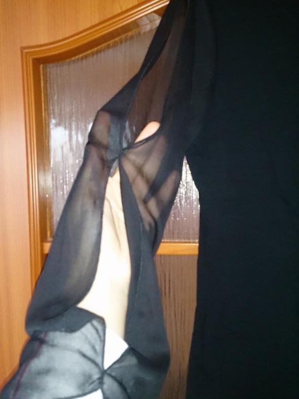 czarna bluzka rękawy tiulowe...