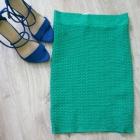 zielona bandażowa spódnica z wyskim stanem vero mo