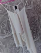 Bluzka H&M na ramiączkach biała