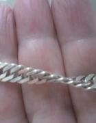 Srebrna bransoletka o skręcanymi splocie ponad 8 gr