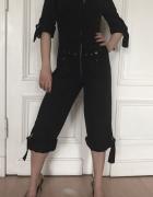 Kombinezon grafitowy czarny S 36 H&M culottes kulo