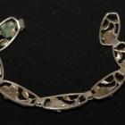 Srebrna artystyczna bransoletka