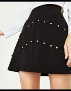 Nowa spódnica zdobiona biżuterią Zara XS