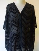 Bluzka Oversize H&M Czarna L 40 Wzór Wypuchły