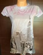 NYC długi t shirt