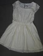 Kremowa koronkowa sukienka XL Cllillin...