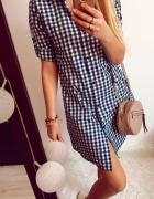 Koszulowa Sukienka Damska w kratkę M