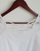 biała boho bluzeczka koronka M L