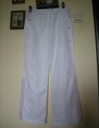 spodnie białe dresy adidas męskie roz L