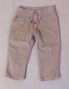 Zara baby 12 do 18 mies spodnie spodenki sztruks