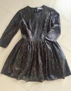 sukienka koronkowa miedziana triul Sugarfree M