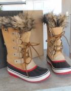 Sorel nowe śniegowce Joan of arctic 40 kozaki wodoodporne skóra futerko