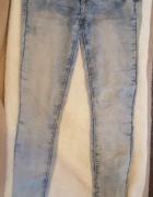 Niebieskie spodnie dżinsowe z cienkiego materiału rurki Tally W...