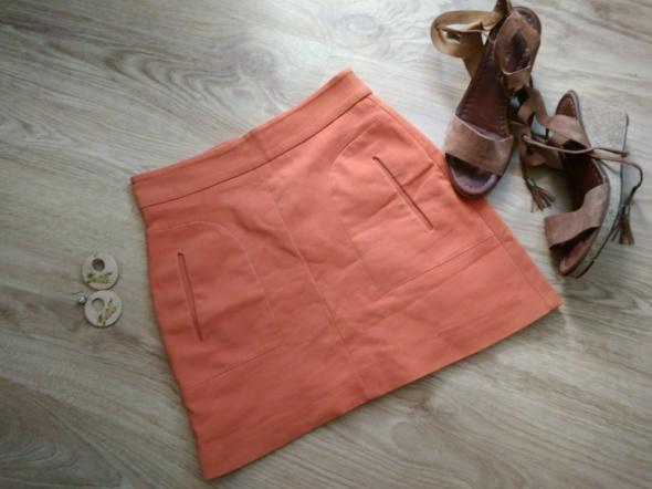 Spódnice Pomarańczowa mini spódniczka zara