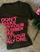 CUDNA koszula Tally Weijl khaki róż