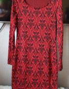 sukienka midi wzory dopasowana george