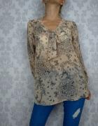 Delikatna bluzka koszula mgiełka w kwiaty motyle Next
