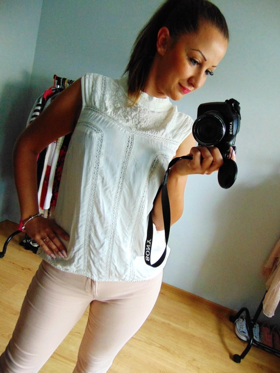Biała bluzka haft TU 14 42 XL