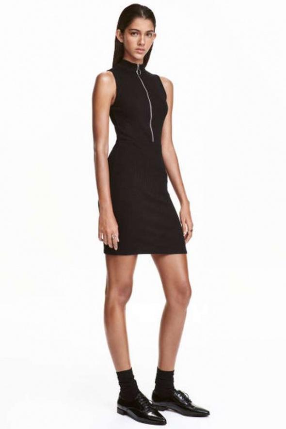 sukienka H&m zamek suwak zip ołówkowa xs 34 xxs 32