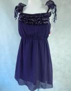 Cutie NOWA sukienka z HAFTAMI 36 S...