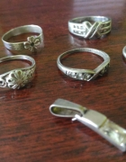 Miks srebrnych pierścionków