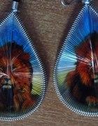 Kolczyki plecionki malowane ręcznie animal
