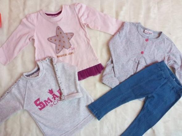 Zestaw komplet nowych z metkach ciuchów dla dziewczynki 86 bluzki legg