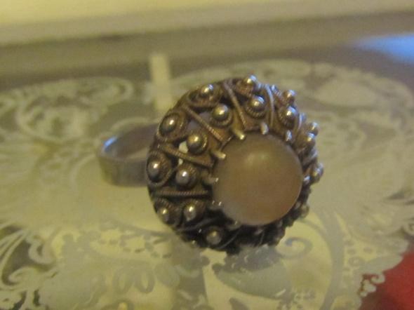 srebrny pierścionek Warmet oset jeżyk