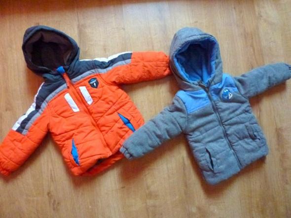 2 kurtki zimowe 92 98 2 3 lata ocieplane polar chłopiec zima