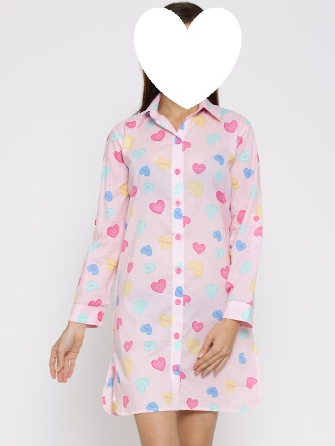 Koszula nocna Evie 46 48 w serducha pizama...