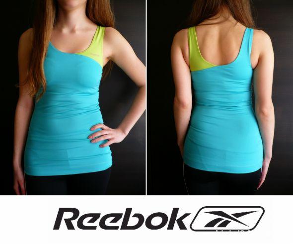 Błękitnoseledynowy top na ramiączkach Reebok xs 34