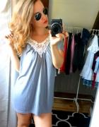 bluzka koszulka koronkowa