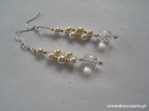 Kolczyki srebrne perłowe Swarovski