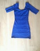 niebieska mini sukienka...