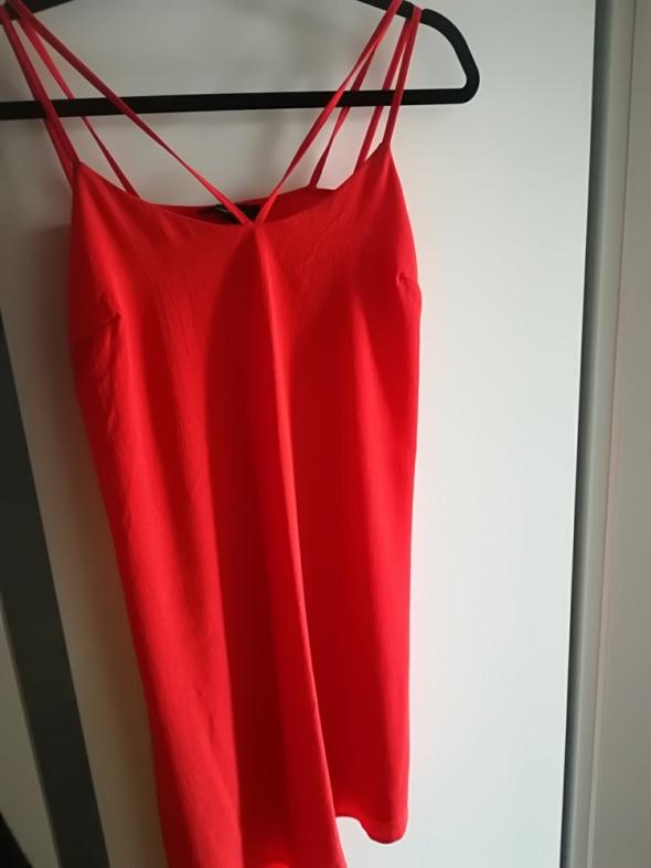 Sukienka czerwona atmosphere paski 36...