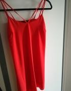 Sukienka czerwona atmosphere paski 36