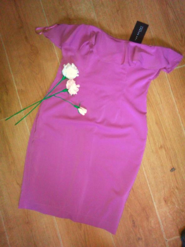 Top Secret nowa sukienka hiszpanka 38 M fioletowa...