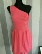 Sukienka asymetryczna 1 ramię bombka Częstochowa 34 xs