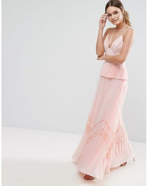 e51d489ac8 Asos maxi pudrowa plisowana strappy koronka w Suknie i sukienki ...