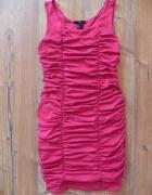 H&M bandażowa sukienka malina fuksja róż...