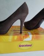 Szpilki czółenka platforma brązowe Graceland 37...