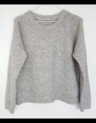 Nowy szary sweter Tu 14 XL 42 warkocze...