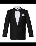 Elegancki czarny garnitur Lancerto